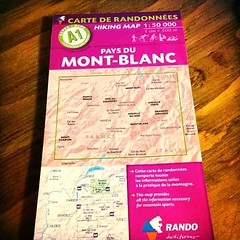 Map of Mont-Blanc
