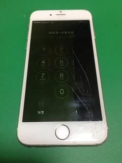 101_iPhone6のフロントパネル液晶割れ