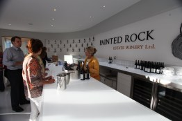The opening of the new tasting room at Painted Rock