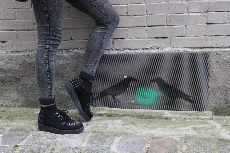 chaussures creepers à clous