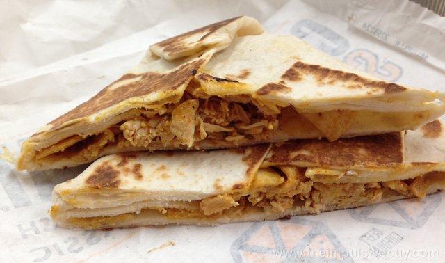 Taco Bell Spicy Chicken Crunchwrap Slider