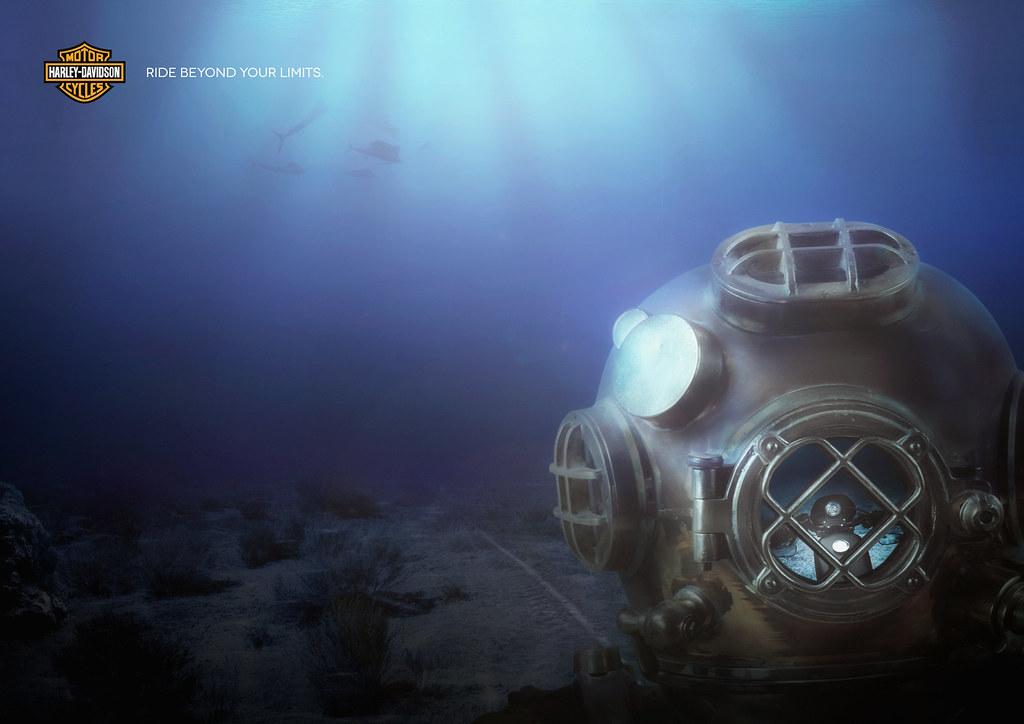 Harley-Davidson - Reflection Under Water