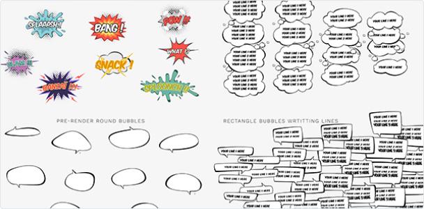 Preview_Project Comics Bubbles Speech Kit 2