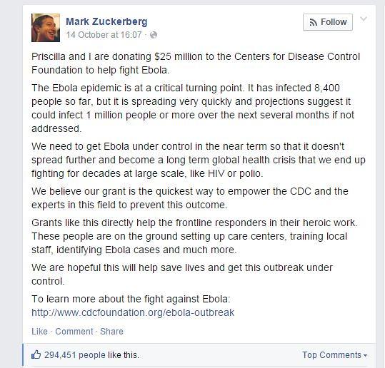 zukerberg ebola