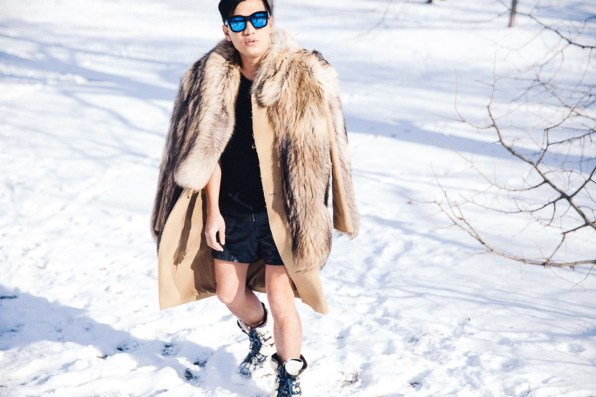Bryanboy at Central Park during Winter