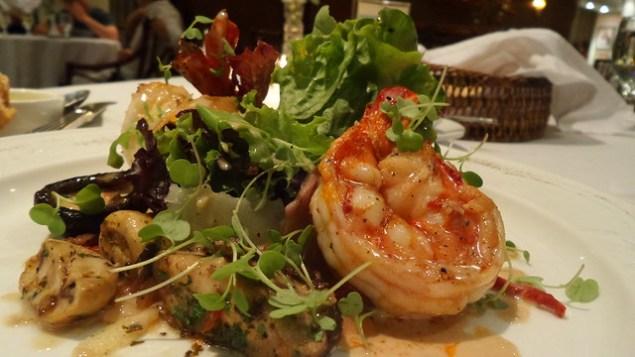 Grilled prawn salad - Chef jessie's