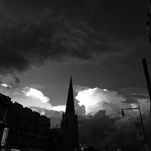 Steeple and Clouds by DJ Lanphier