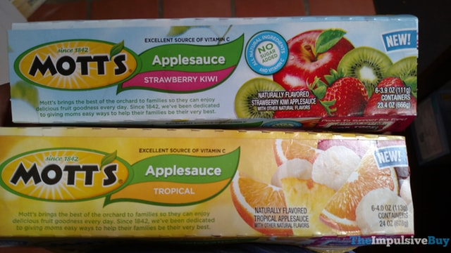 Mott's Applesauce (Strawberry Kiwi and Tropical)