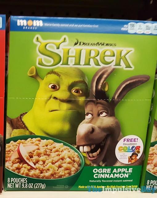 Mom Brands DreamWorks Shrek Ogre Apple Cinnamon Instant Oatmeal