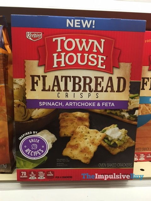 Keebler Town House Spinach, Artichoke & Feta Flatbread Crisps