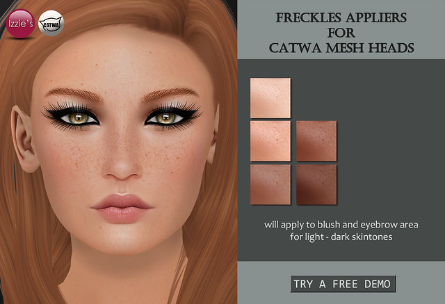 Freckles Appliers for Catwa mesh heads