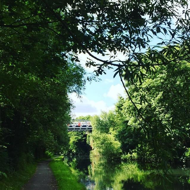 Tube over the canal #morningrun