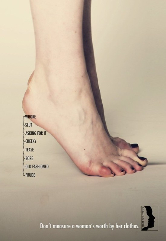 Terre des Femmes - Don't measure a woman's worth by her clothes Heels