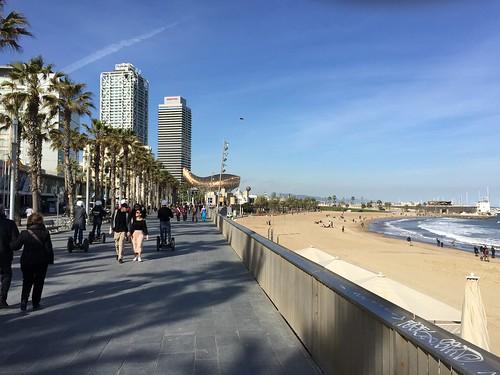 A Stroll at Barcelona's Beach