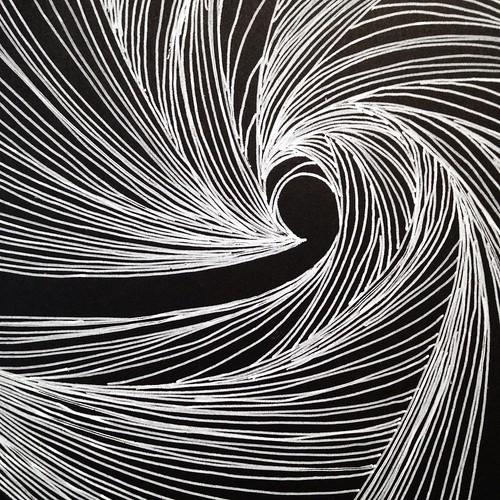 Spiral line drawings