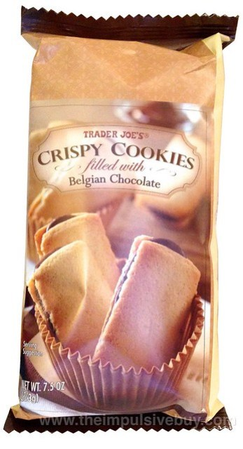 TJ's Crispy Cookies Filled with Belgian Chocolate