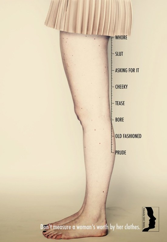 Terre des Femmes - Don't measure a woman's worth by her clothes Skirt