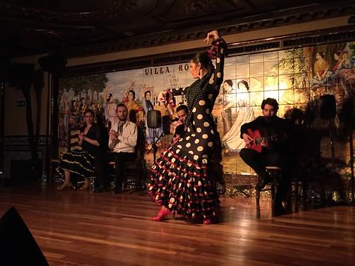 Flamenco show at Villa Rosa in the center of Madrid