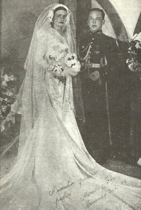 matrimonio 3 febrero de 1945 cap mpj y flor maria chalbaud