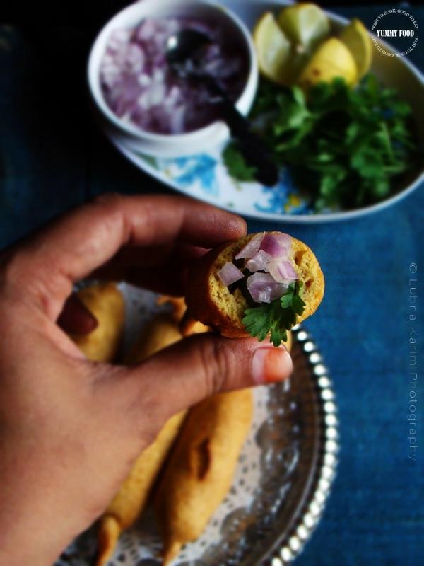 Mirchi Bhajji/ Green Chili Fritters/Mirpakaya Bajji