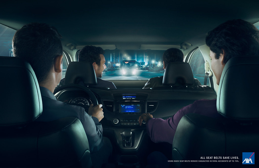 AXA Insurance - Rear seat belt 1