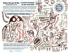 Greetings from Hell postcard (art by Adam Thaxton)