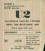 "19821220-U2-Maysfield Leisure Centre-Belfast-Northern Ireland-20-Dec-1982-ticket-DC Cardwell • <a style=""font-size:0.8em;"" href=""http://www.flickr.com/photos/87767114@N03/8157327131/"" target=""_blank"">View on Flickr</a>"