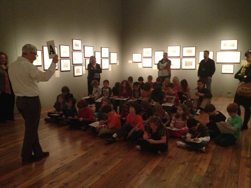 2nd Grade Students Visiting the Reed College Cooley Art Gallery