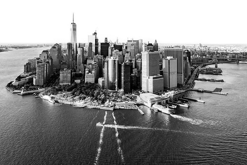 Downtown NYC from the air