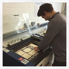 @saveyourshins prototyping their upgraded #plyobox #lasercutting #prototyping #design #entrepreneur