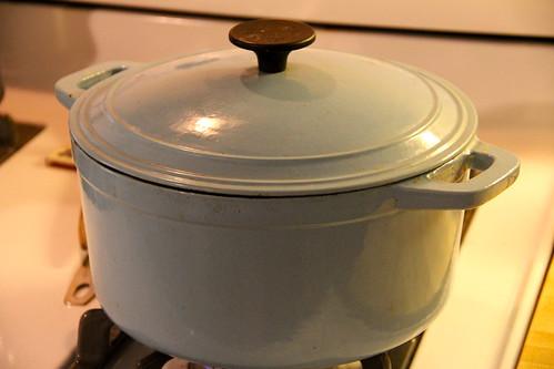 Potato poblano soup