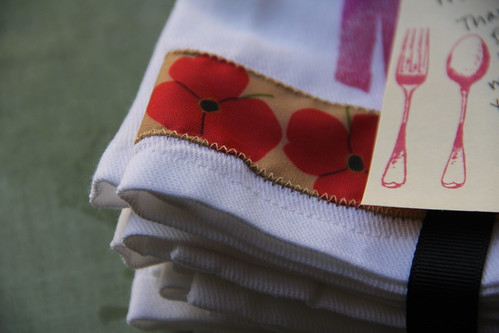 Hostess gift: embellished cloth napkins