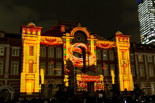 Projection Mapping to Tokyo Station -Tokyo Michi Terrace 2012- (Marunouchi, Tokyo, Japan)