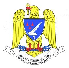 """Însemnul heraldic al Brigăzii 1 Rachete Sol-Aer ,,Nicolae Dăscălescu"""""""