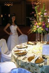 Bride Admires the Table