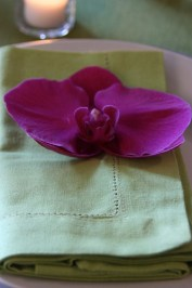 Orchid on Place Setting