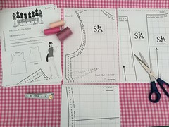 Camellia Sewing Pattern - Pattern Cutout