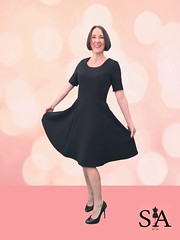 Black Full Circle Skirt Dress
