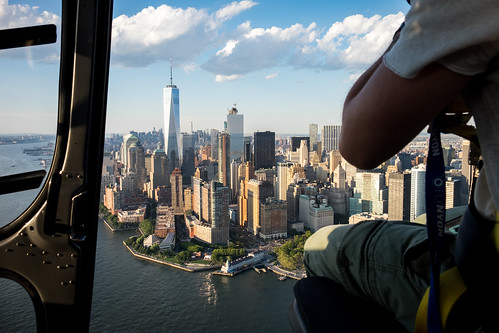 Flying above NYC