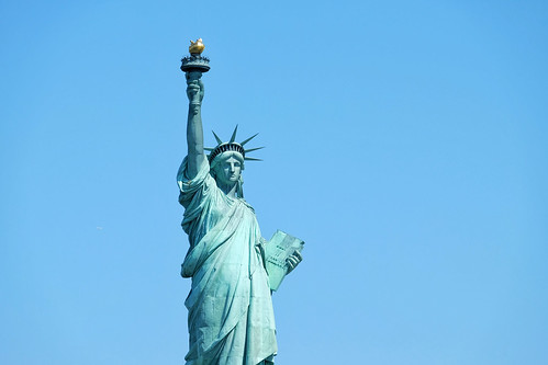 Up close with Lady Liberty
