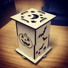 Half-term workshop for 12+y/o, make your own Halloween lights. More info: http://ift.tt/2dLQI7y #halloween #workshop #fablab #lasercutting