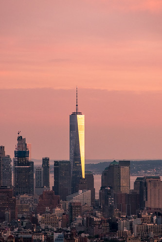 World Trade Centre seen from Top Of The Rock
