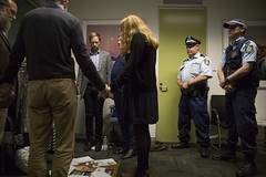 Police remove Christians from prayer sit-in for asylum seekers at Malcolm Turnbull's office