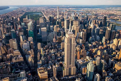 Midtown and Central Park from the air