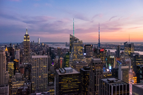 Blue hour from Top Of The Rock