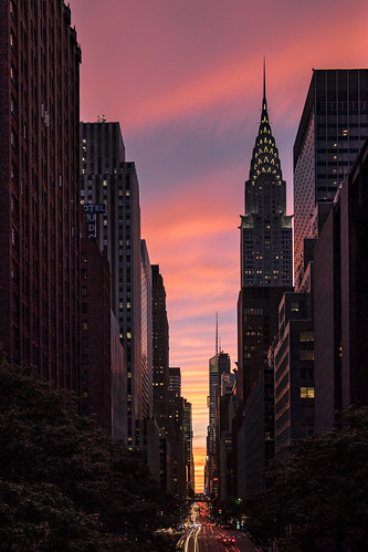 Tudor City sunset