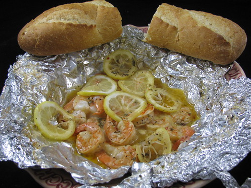 Hot and Spicy Foil Wrapped Shrimp