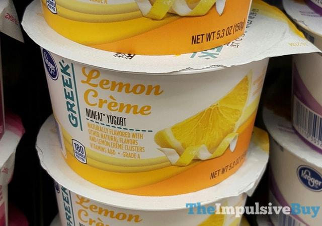 Kroger Lemon Creme Greek Yogurt