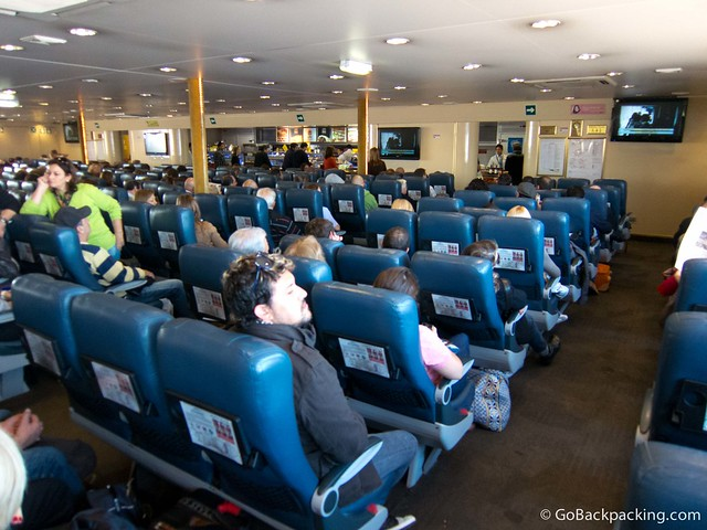 Inside the Buquebus ferry