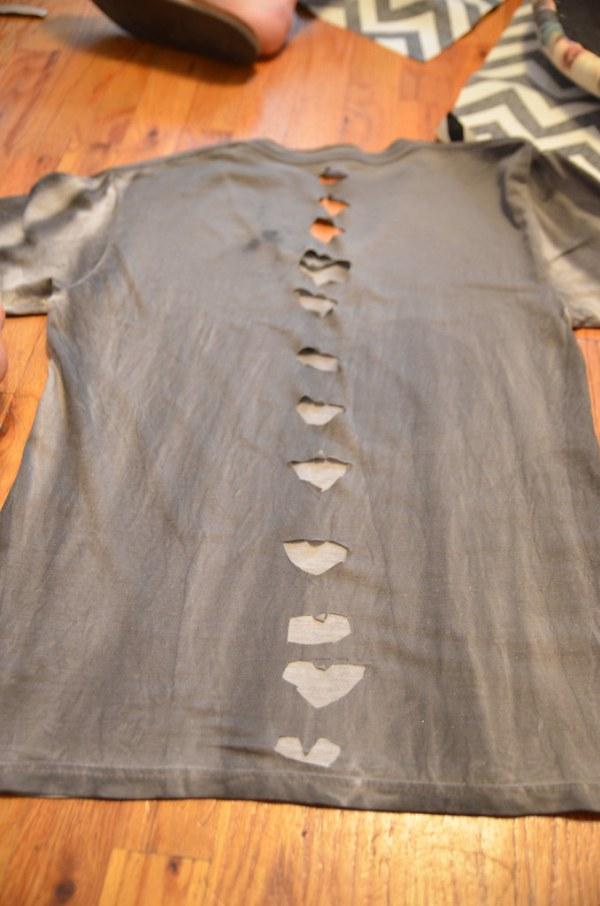 DIY White T-Shirt Refashion